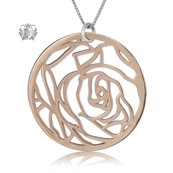 Metalsmiths Sterling Rose Gold Dipped Rose Pendant