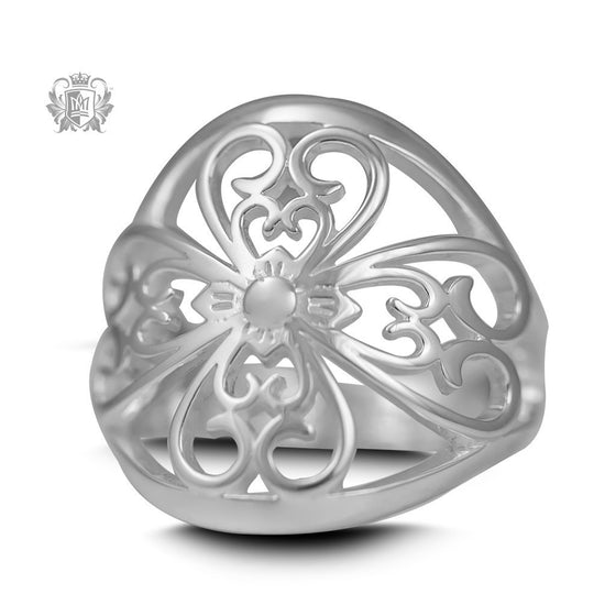 Scroll Lunetta Ring - Size 7 -  Rings