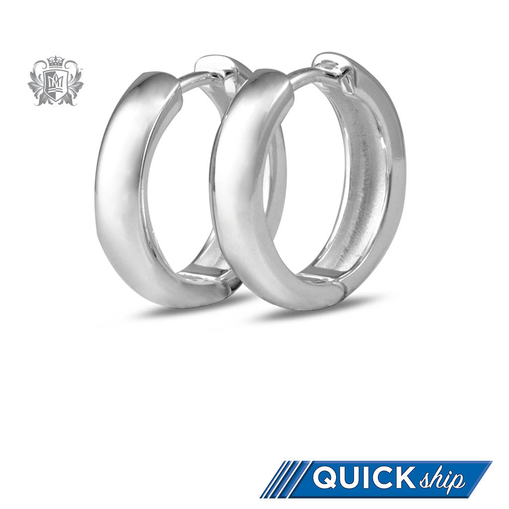 Quick Ship Squared Huggies - Metalsmiths Sterling䋢 Canada