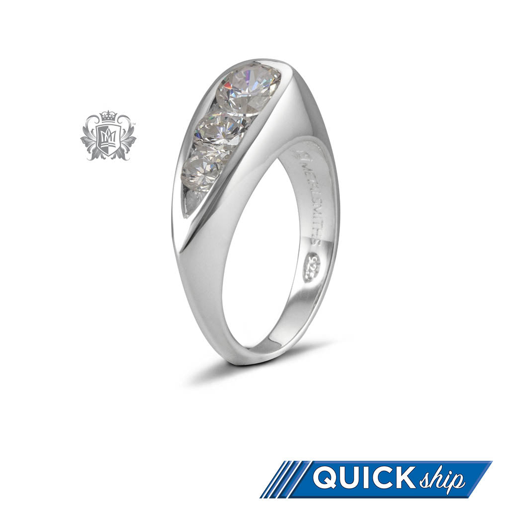 Quick Ship Cubic Teardrop Channel Ring - Metalsmiths Sterling䋢 Canada