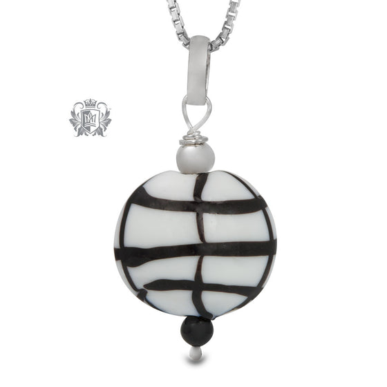 Black Grid Pendant