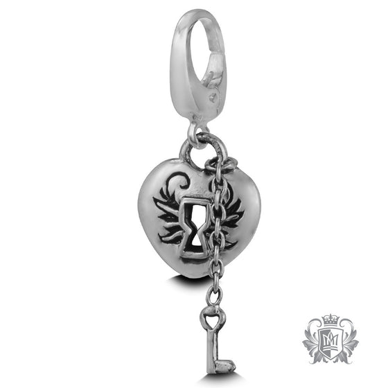 Metalsmiths Sterling Silver heart Lock & Key Charm