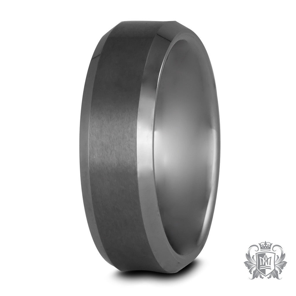Metalsmiths Sterling Tungsten Brushed Comfort Fit Band Ring
