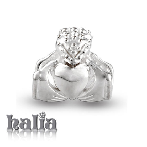 Claddagh -  Sterling Silver Bead