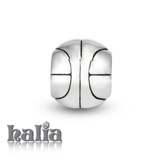 Basketball -  Sterling Silver Bead