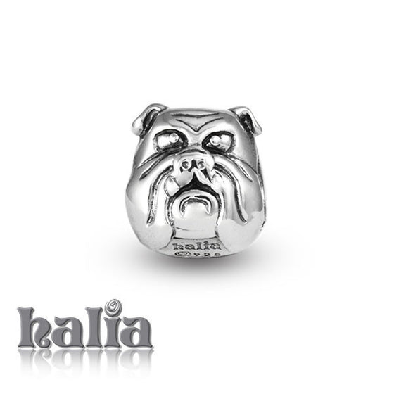 Bull Dog -  Sterling Silver Bead