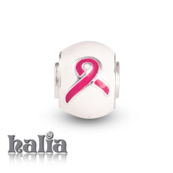 Breast Cancer Awareness -  Sterling Silver with Enamel Beads