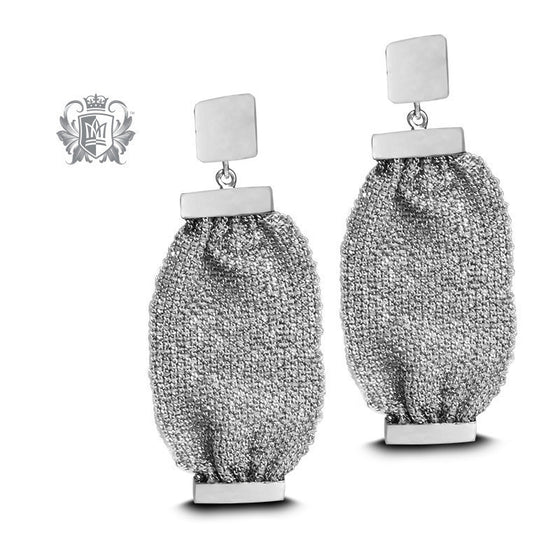 Sterling Silver Fabric Earrings - Metalsmiths Sterling™ Canada