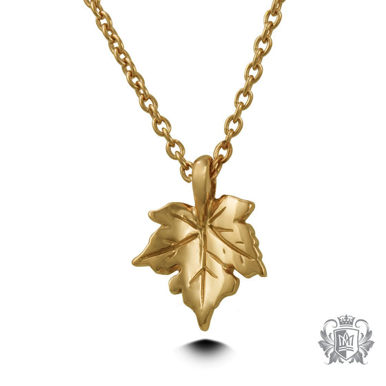 Gold Dipped Maple Leaf Pendant