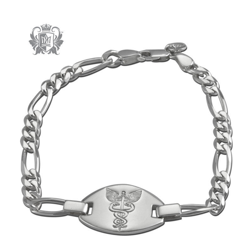 Emergency Medical Identification Bracelet (Large) - Metalsmiths Sterling™ Canada