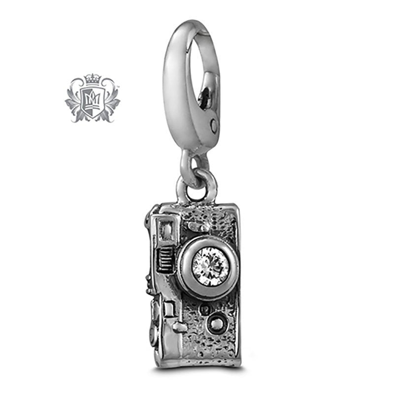Vintage Camera Charm with Cubic Lens - Clear cubic lens Charm - 2