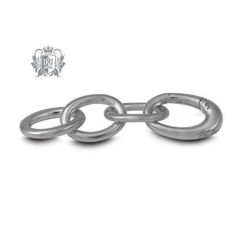 "1 1/4"" Sterling Silver Oval Rolo Charm Bracelet Extension - Metalsmiths Sterling™ Canada"