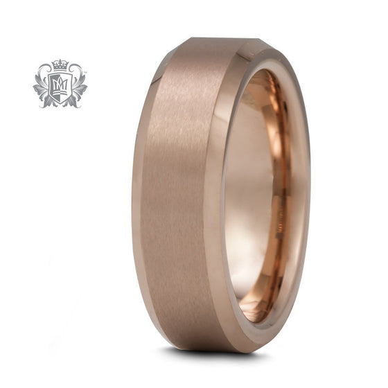 Rose Gold Coloured Comfort Fit Tungsten Band (6.5mm) - Size 5 Tungsten Rings - 1