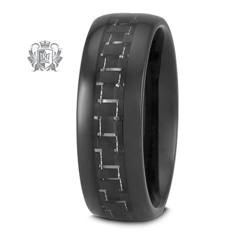 Tungsten Electro Black Carbon Band - Size 9 Tungsten Rings