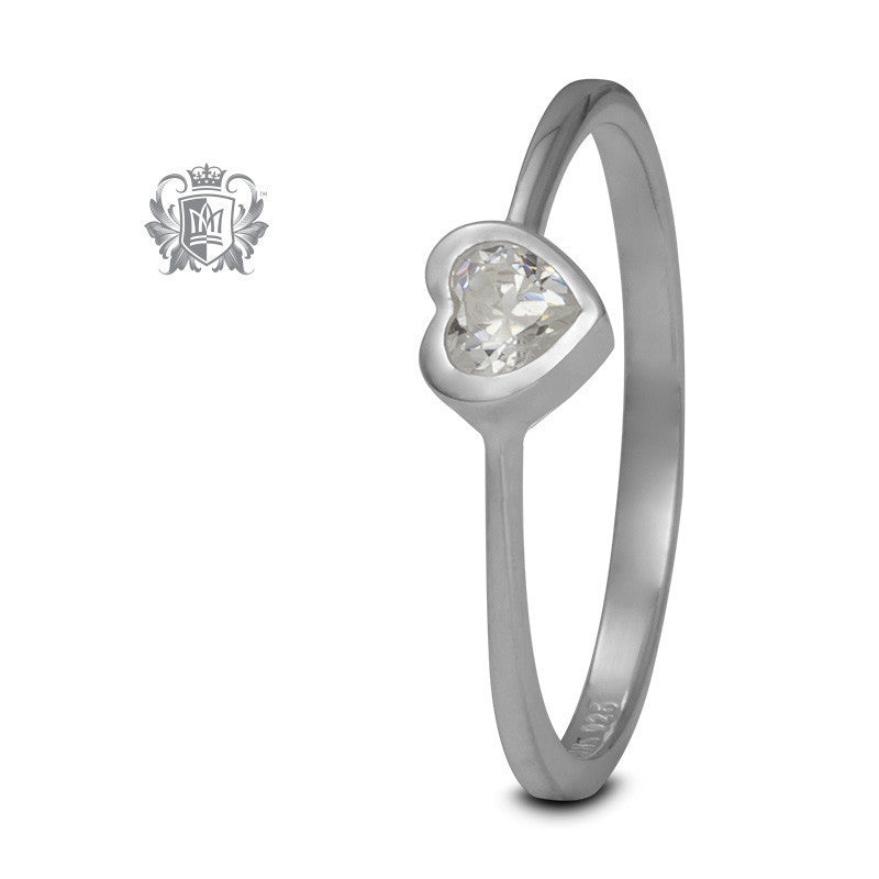 Heart Ring - Cubic / Size 6 Gemstone RIngs - 1