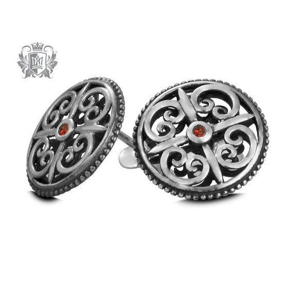 Panos Konidas Round Shield Earrings - Metalsmiths Sterling™ Canada
