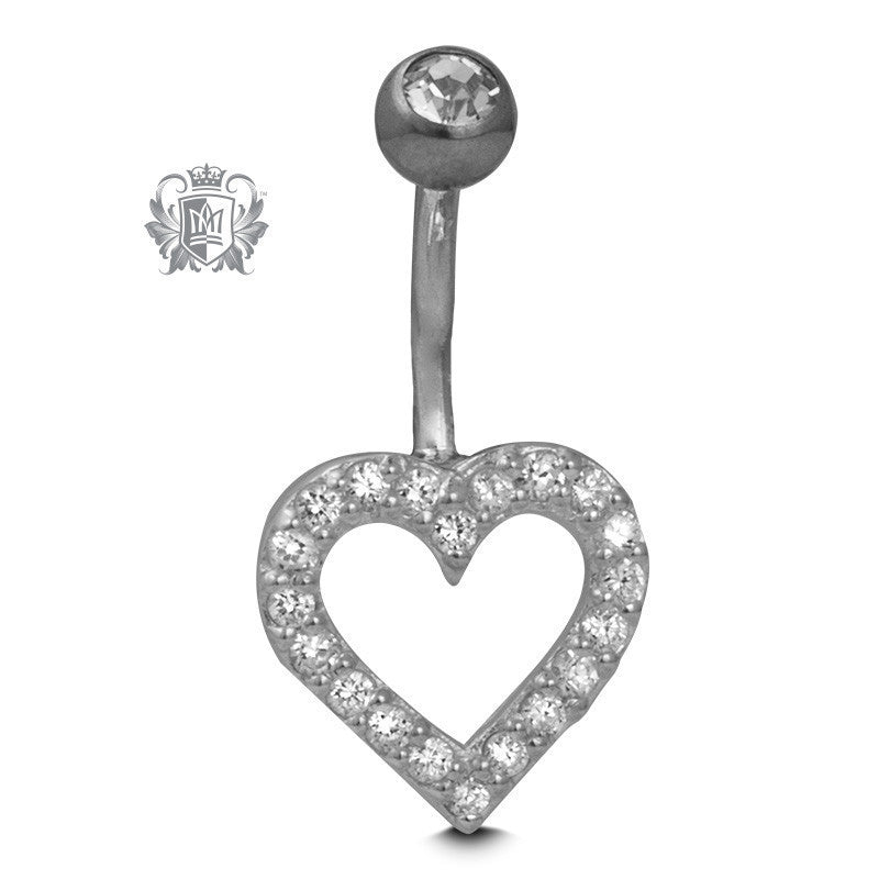 Sweet Heart Belly Jewel - Metalsmiths Sterling™ Canada
