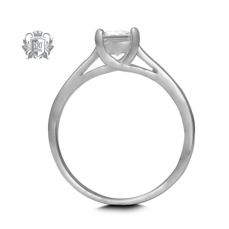 Bypass Prong Set Cubic Ring - Metalsmiths Sterling™ Canada
