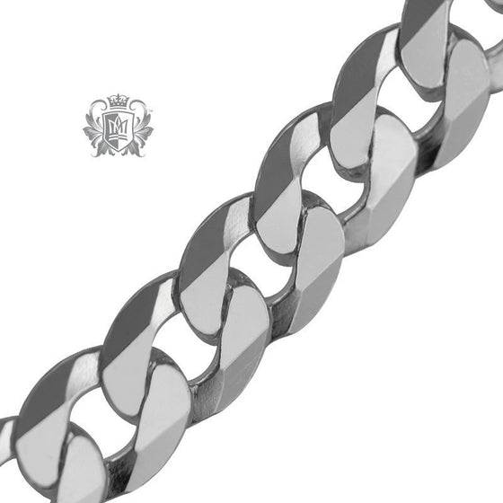 Curb Flat Necklace (160 Gauge) - 22 inch chain Chain