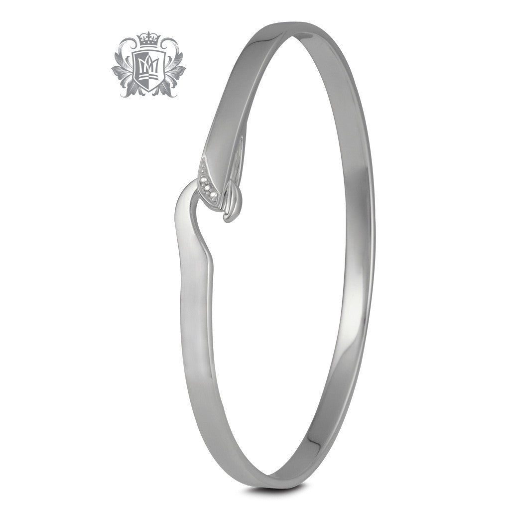 Hook Bangle with Diamonds - Metalsmiths Sterling™ Canada