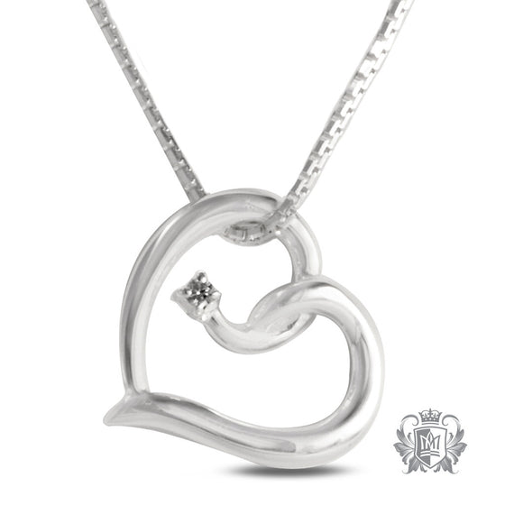 Metalsmiths Sterling Silver Heart Twist Cubic Pendant