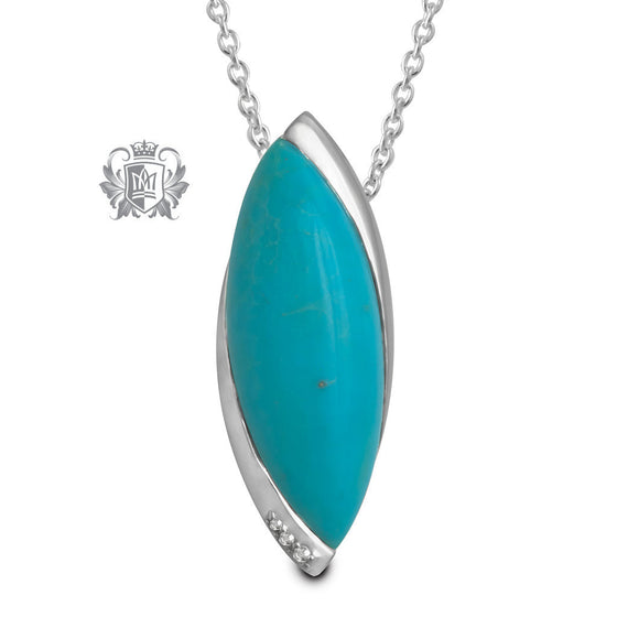 Marquise Cut Pendant with Diamond Accents - Metalsmiths Sterling™ Canada