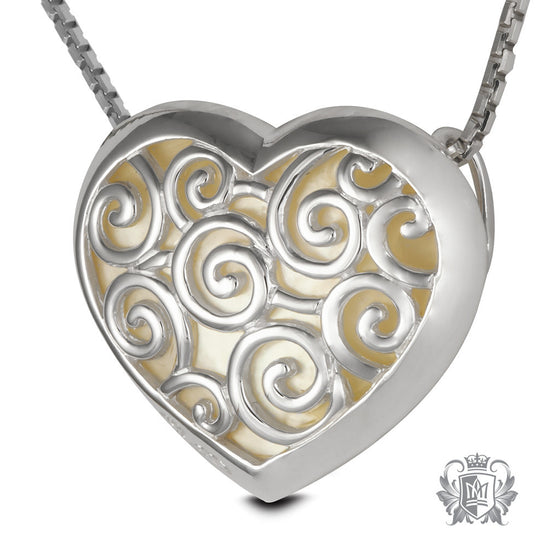 Metalsmiths Sterling Silver Mother of Pearl Heart Pendant