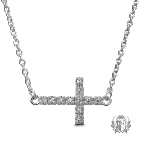 Metalsmiths Sterling Silver Sideways Cross Necklace