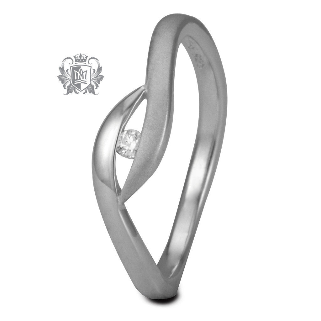 Dual Texture Semi Bypass Ring - Metalsmiths Sterling™ Canada