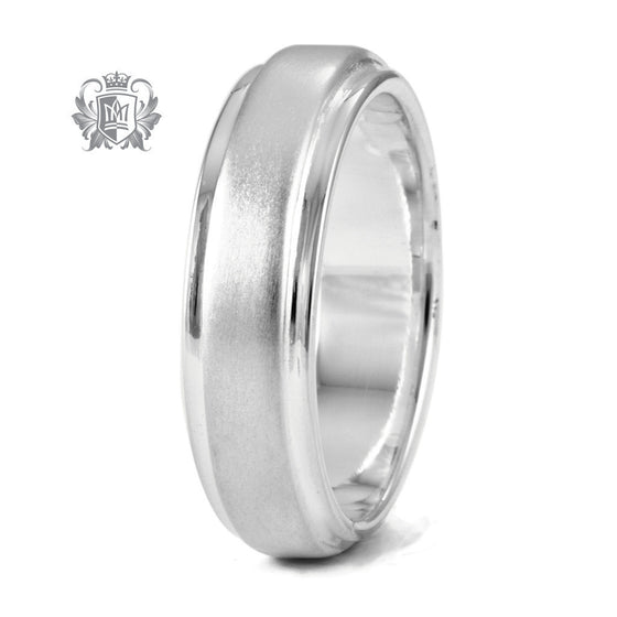 Dual Texture Band - Size 9 Rings