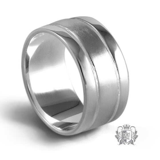Dual Texture Band - Size 10 Rings