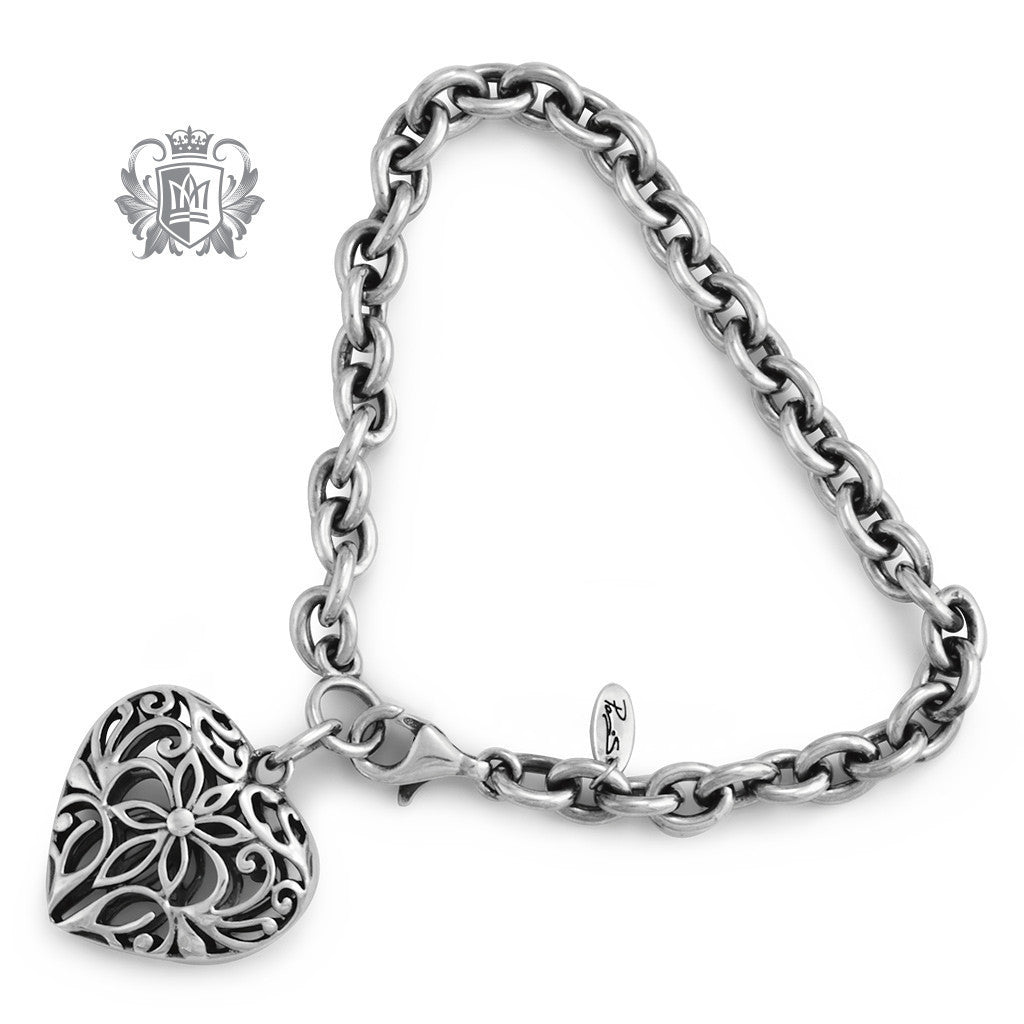 Scrolled Heart Charm Bracelet - Metalsmiths Sterling™ Canada
