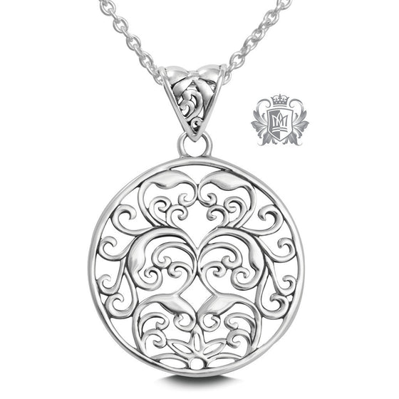 Scrolled Medallion - 18 inch chain Pendants