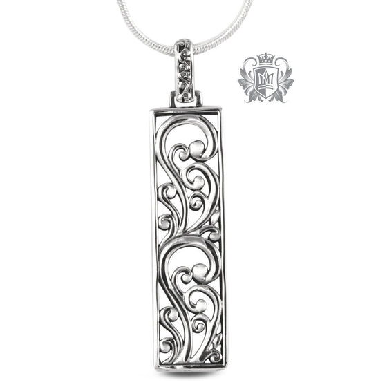 Rectangular Scroll Pendant - 18 inch chain Pendants
