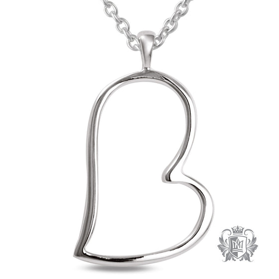 Metalsmiths Sterling Silver Offset Heart Pendant