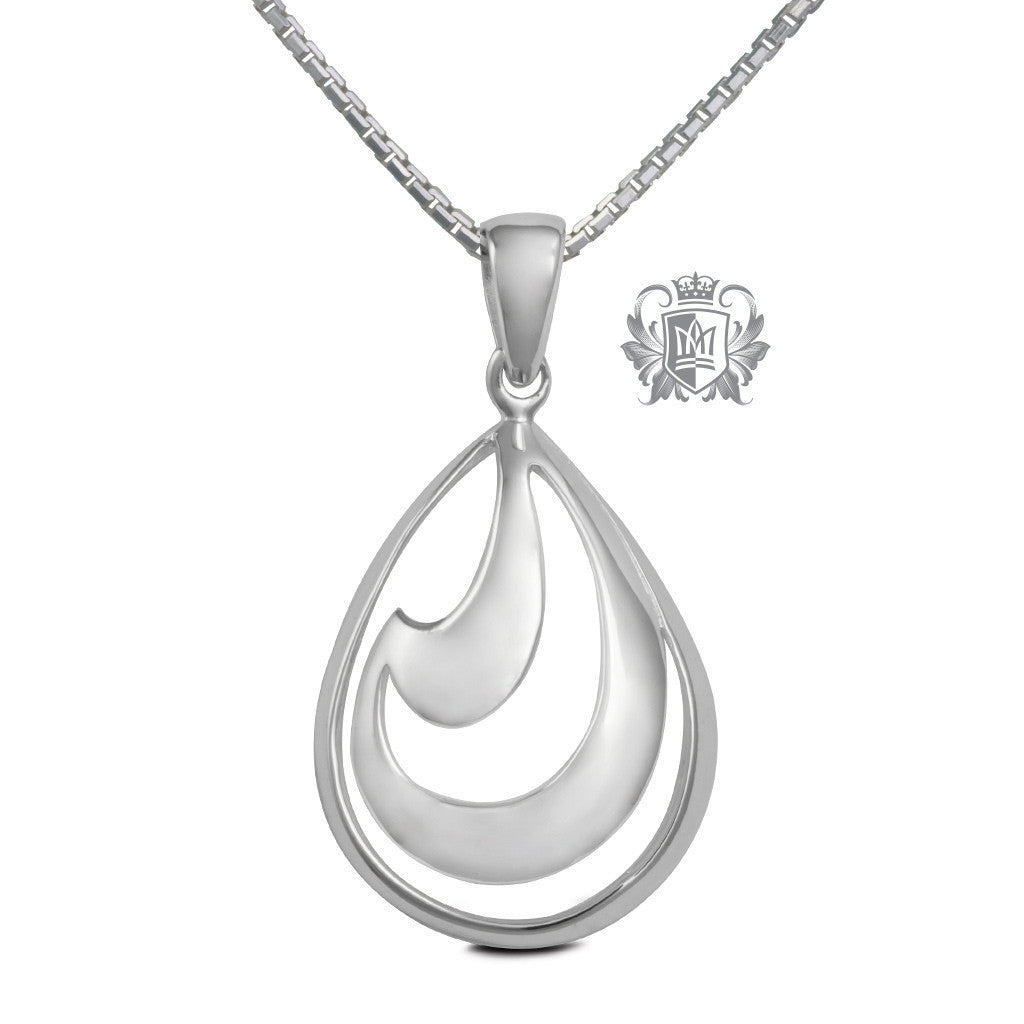 Fluid Drop Pendant - 18 inch chain Pendants - 1