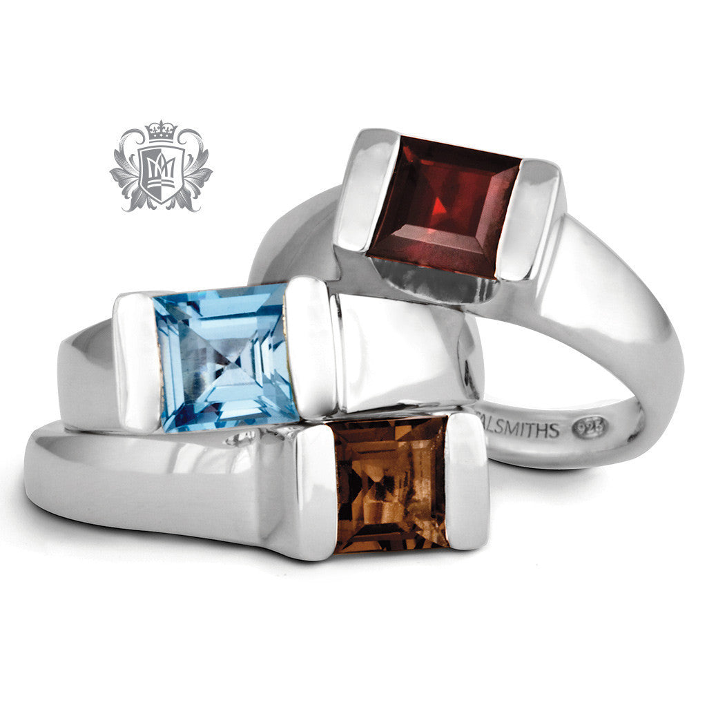 Floating Channel Set Ring -  Gemstone RIngs - 6