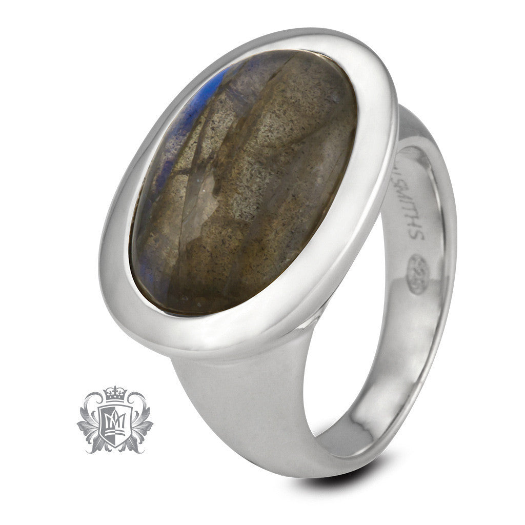 Landscape Oval Ring - Metalsmiths Sterling™ Canada