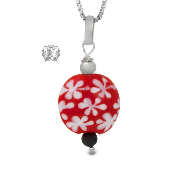 Red Snowflake Necklace