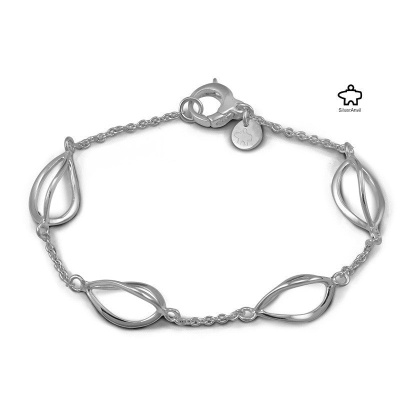 Twisted Tulip Bracelet -  Silver Anvil