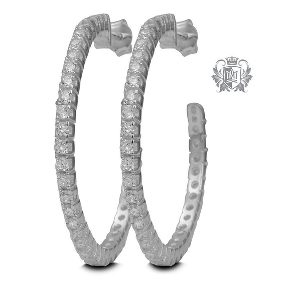 Cubic Eternity Hoops -  Hoop Earrings