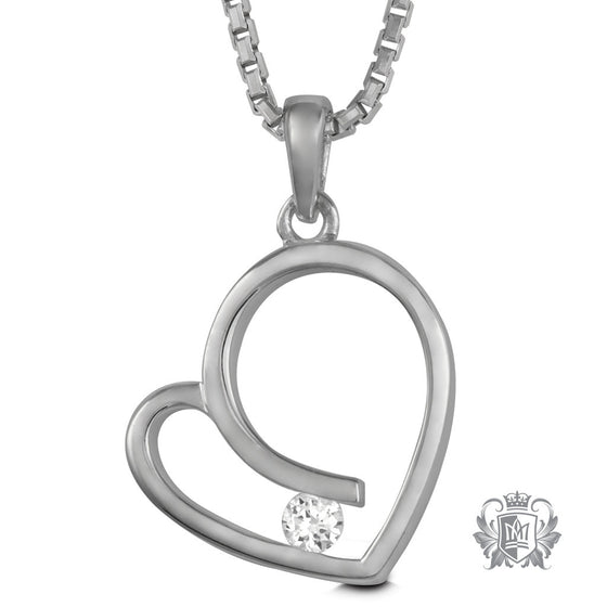 Metalsmiths Sterling Silver Love's Embrace Heart Pendant