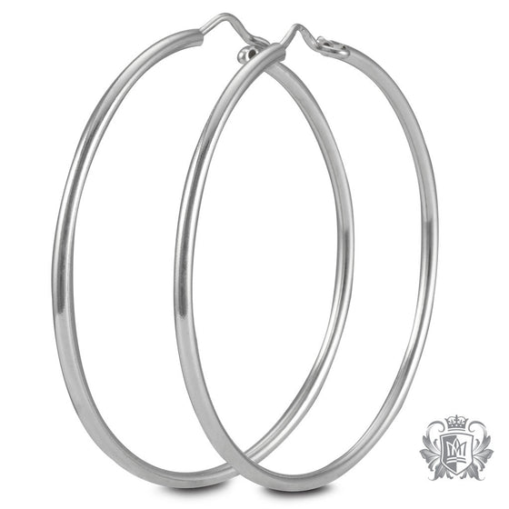 Metalsmiths Sterling Silver 44mm Hoop Earrings