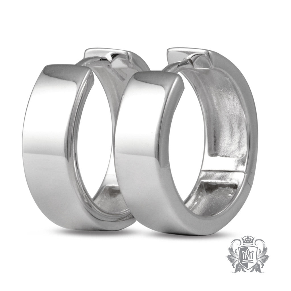 Metalsmiths Sterling Silver Square Hinged Huggies