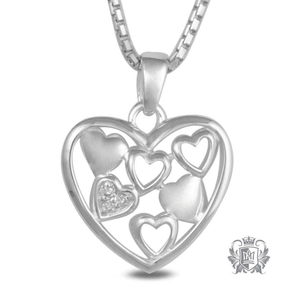 Metalsmiths Sterling Silver Multi Heart Pendant