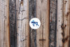"""Blue Moon Moose"" Vinyl Stickers Wholesale"