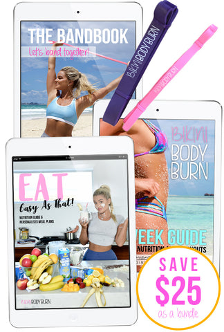 Nutrition + Workout Bundle (eBooks & Resistance Bands)