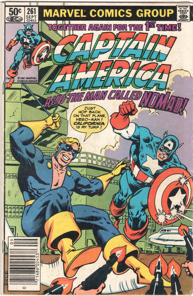 Marvel Silver Age Comics, Captain America and The Man Called Nomad, #261,  Antique Alchemy