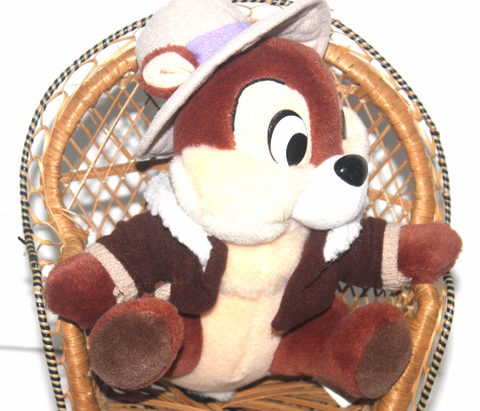 9'' Vintage Chip & Dale Stuffed Toy, Disney, Stuffed Animal, Antique Alchemy