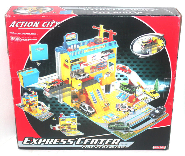 Action City Express Center Playset and Car Case, Antique Alchemy